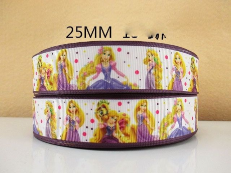 1 METRE NEW PRINCESS RAPUNZEL RIBBON SIZE 1 INCH HEADBANDS HAIR BOWS BIRTHDAY CAKE